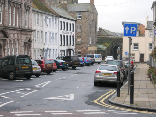 All parking in Berwick is currently free - but you'll need to pick up a clock to indicate how long you've been in your space. Available at a range of outlets, incuding the Tourist INformation Centre on Marygate