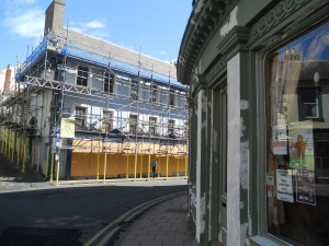The Barrels pub and the former Cowes buildings - both being given a facelift with grant monies.