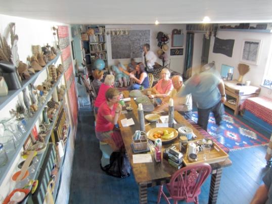 The Allanbank Mill Steading kitchen during Open Studio. (Image (c)  Jason Patient 2013)