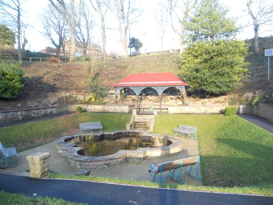 The refurbed lily pond and shelter near Berwick Station