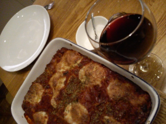 Spinach & ricotta cannelloni - glass of red optional!