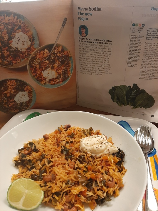 Week two of my year cooking with Guardian Feast - Meera Sodha's take on Hoppin' John