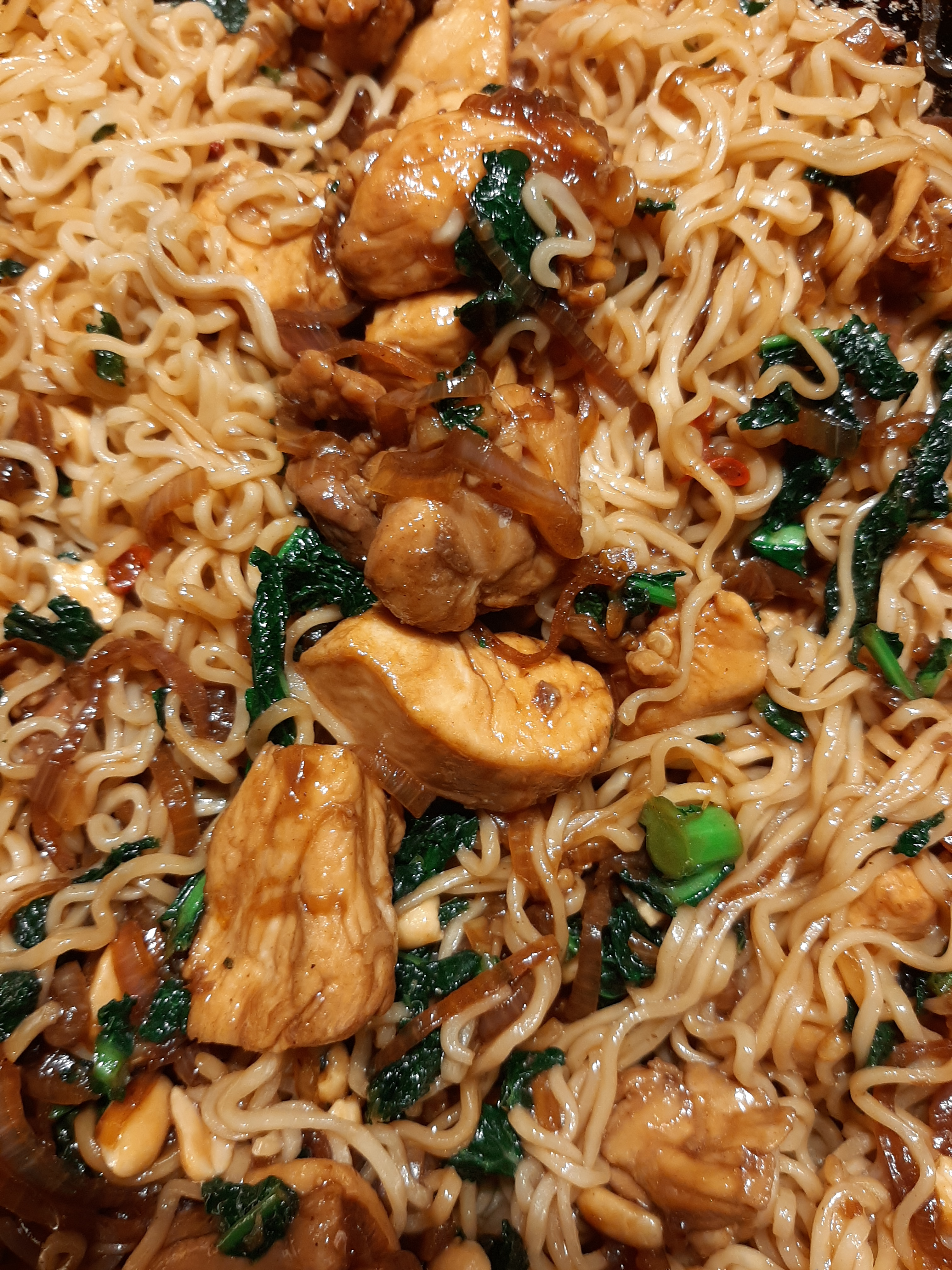 Lara Lee's spicy soy pork and peanut instant noodles from Guardian Feast by me, Jackie Kaines