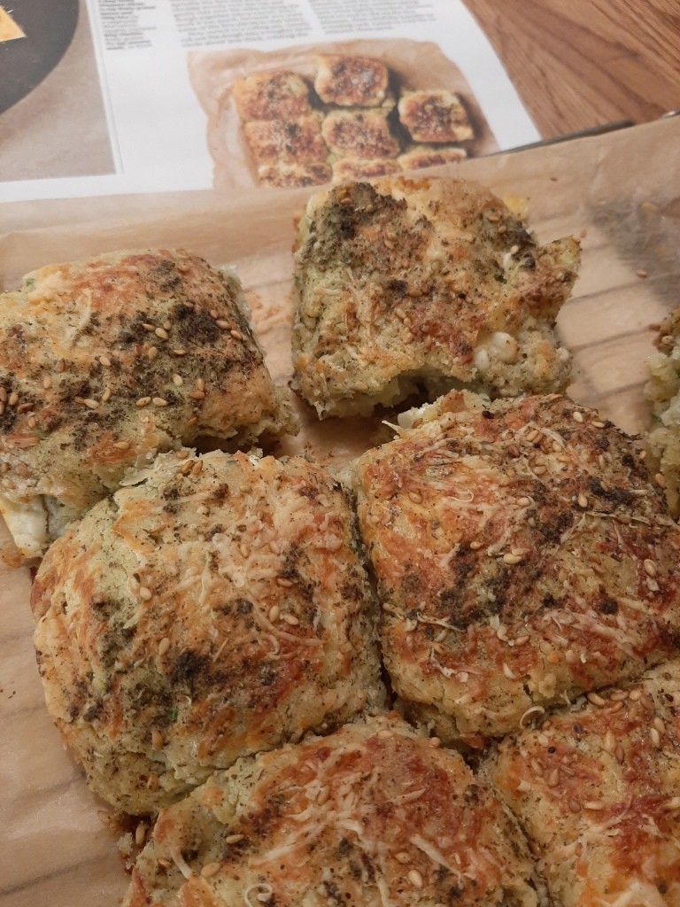 My take on Yotam Ottolenghi's 'pull-apart scones with za'atar and feta' from Guardian Feast. Sublime gluten free, vegetarian beauties.